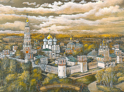 Panorama of the Novodevichy Convent, Moscow