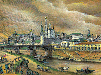 General view of the Kremlin in 1846, Moscow