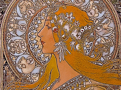 Signs of the zodiac, Alphonse Mucha