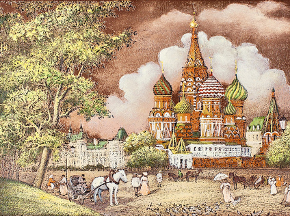 Red Square, Moscow 19th century