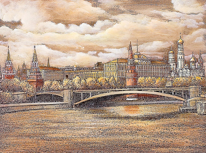 View of the Moscow River and the Kremlin, Moscow